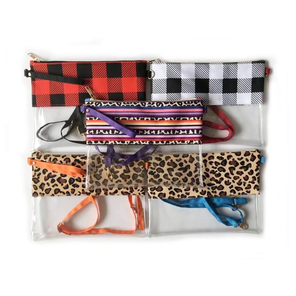 5 Стиля пледа персонализированного New Hot Sale Crossbody Очистить кошелек сумка монограмма стадион Clear Bag MMA2480