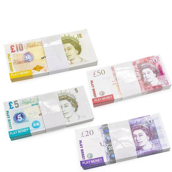 Acheter Fausse Monnaie Faux Livre Sterling Argent D Apparence De Film Double Face Argent Fictif 100 Pieces Par Jeu 5 10 20 De 2 27 Du