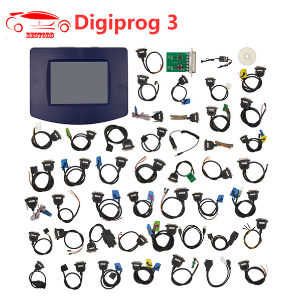 Digiprog III V4.94 Digiprog 3 Odometer Programmer Mileage correction tool with all full set cables Odometer Adjustment Tool