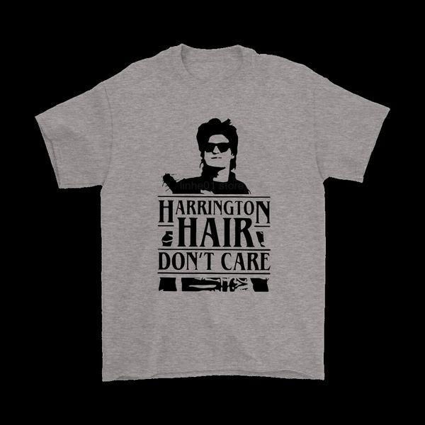 Marca Harrington Cabelo Não Se Importam Camisetas 2019 Homens Verão T-Shirt de Manga Curta