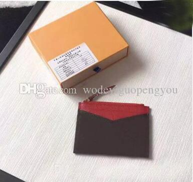 Collection European Designer Handbag card holders zip Wallet ID Card Holder Coin Purse mini wallet Coin Real Leather Wallets