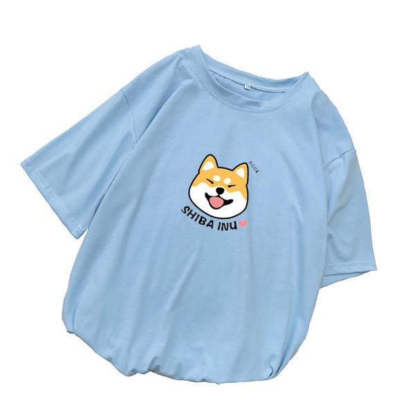 Shiba T-shirt Frauen Sommer Kawaii Lustige Cartoon T-shirt Femme Korean Fashion Kleidung Casual Streetwear Harajuku Camiseta Mujer
