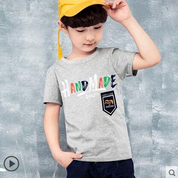 Short sleeve T-shirt for boys in children's wear Summer children's jacket Baby cotton T-shirt for children's spring wear bottom shirt 0210