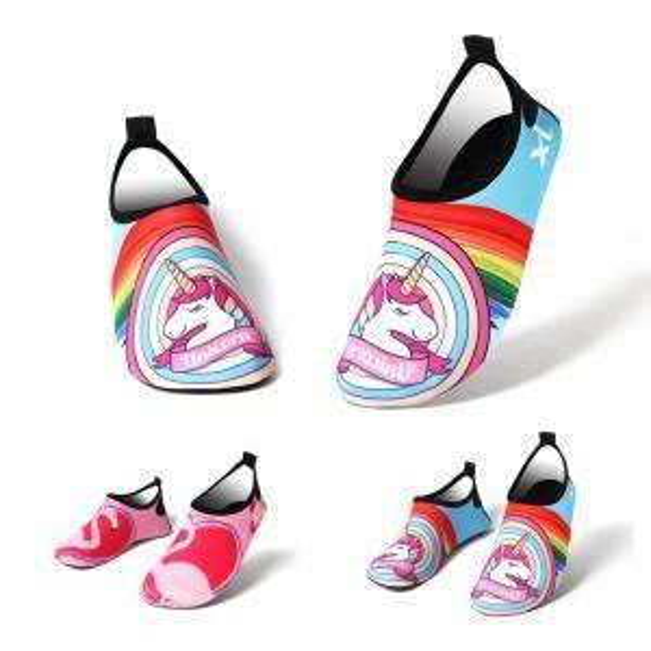Rainbow Diving Shoes Flamingo Unicorn beach shoes Non-Slip horse Water shoe Socks Adults Kids Swimming Surfing Outdoor Yoga shoes GGA1542