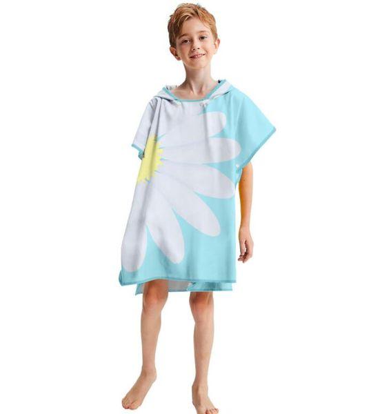 ins hot sale baby girls shower towels kids sun flower blanket children new design towels bath robes