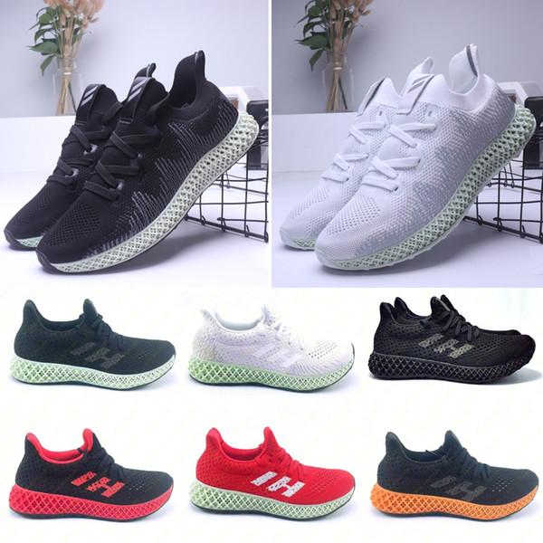 Erkek Futurecraft 4D Koşu Ayakkabıları kadın Kül Yeşil Üçlü Siyah Beyaz Kırmızı Sneaker AlphaEdge 4D Ltd Tasarımcı Trainer Spor ayakkabı Boyutu 38-47