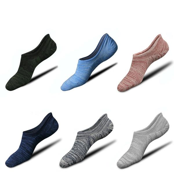 Calcetines deportivos antideslizantes de primavera y verano antideslizantes de silicona Calcetines deportivos para hombres Calcetines de moda para hombres
