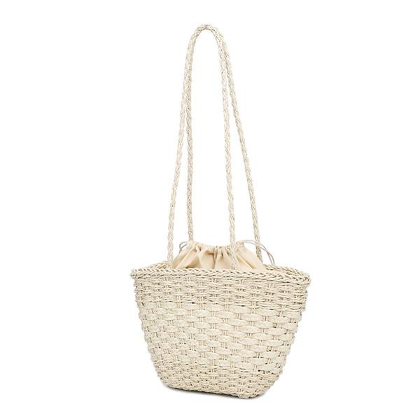 Women Handbag Hand Made Straw Woven Tote Large Capacity Summer Beach Party Shoulder Bag Popular