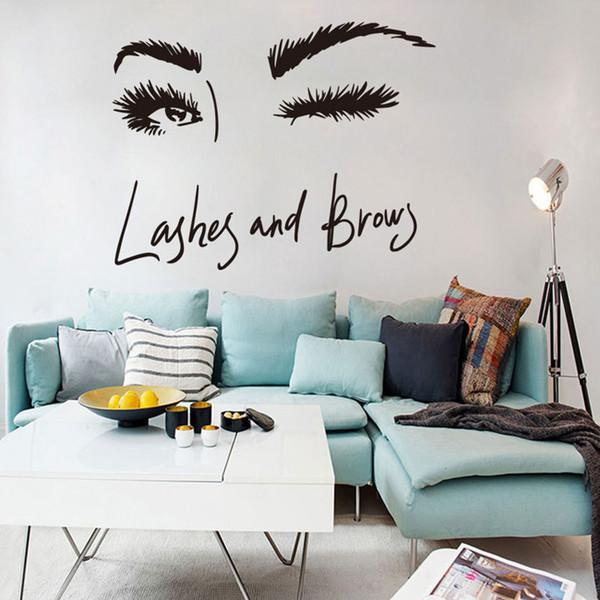 Seksi Uzun kirpikler Duvar Sticker Sanat Çıkartmaları Oturma odası kanepe yatak odası duvar arka plan süslemeleri çıkartmalar duvar kağıdı Duvar