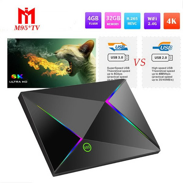 M9S Z8 Android 9.0 TV Box Allwinner H6 Quadcore 4GB 32GB 64GB Smart media player WiFi LAN USB3.0 HDMI2.0 1080P Android Box with Remote OEM