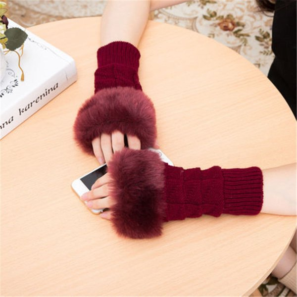 2019 Brand New Fashion Hot Women Ladies Winter Wrist Arm Hand Warm Knitted Long Fingerless Gloves Mitten