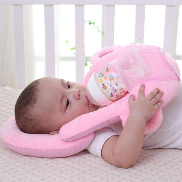 Infant Baby Bottle Rack Free Hand Bottle Holder Cotton Baby Feeding Learning Nursing Pillow Feeding Cushion