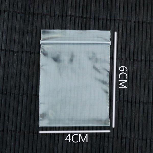 Sacchetti di plastica all'ingrosso-500pcs / lot 4x6cm Mini Clear Ziplock Zip Cerniera richiudibile Poly Bag Accessori gioielli Borse regalo