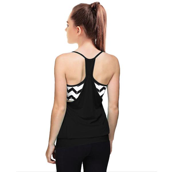 Femmes Gym sport Chemises Débardeur sans manches Sport Tops Fitness Course Vêtements Gilet Tight Tops Quick Dry Chemises Femmes Yoga