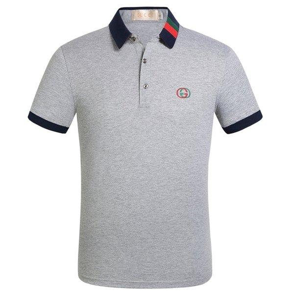Мода designerss Итальянских мужской Poloshirt отворот формальной майка одежда футболки для мужчин случайного человека Смешного Tee рубашка Верхней одежды G2Gucci