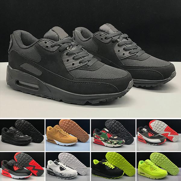 2019 Yeni Erkekler bayan Ayakkabıları klasik Erkekler ve kadınlar Koşu Ayakkabı Siyah Kırmızı Beyaz Trainer Hava Yastığı Yüzey Nefes Spor Ayakkabı 36-45