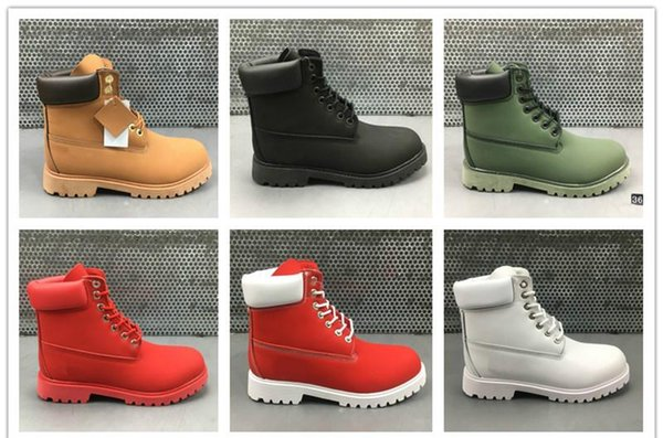 2019 Winter Boots Women Men Mid Boots Street Fashion outdoor Ankle Boot Combat Work Tactical Military Winter boots Outdoor Work EUR 36-46 w1