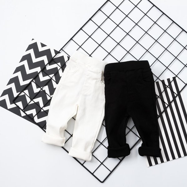 Infant Baby Pants Newborn Bebe Boys&Girls Jogger Kids elastic skinny Trousers Toddler white black Leggings Pantalones Spring