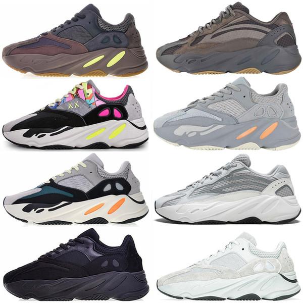 Adidas Yeezy 700 2019 new Wave Runner 700 scarpe da corsa sale inerzia geode malva grigio solido statico Mens donna Kanye West trainer sneakers sportive taglia 36-46