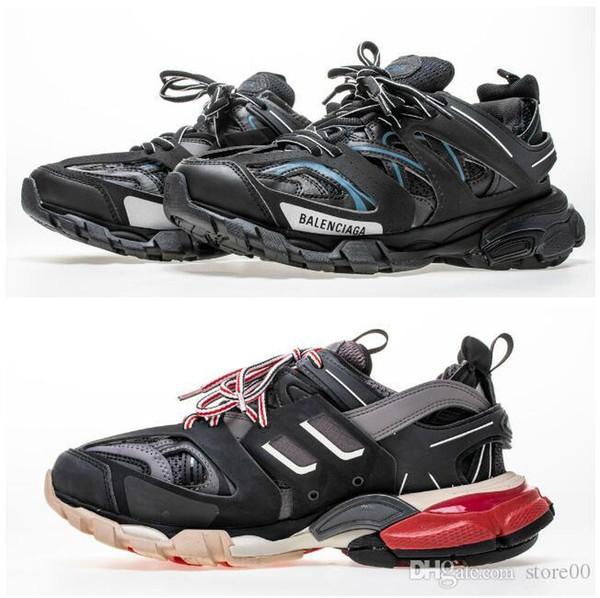 Para hombre de París Diseñador Speed Trainer Stretch Knit Mid Negro Blanco Moda Zapatillas de deporte superiores Calcetines respirables Zapatos Hombres y mujeres Zapatos ocasionales 35-46