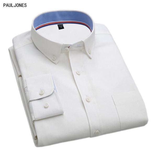 Paul Jones 2017 Printemps Dernières manches longues Oxford Business Casual Hommes shirt de qualité élégant Homme Vêtements importés Chine