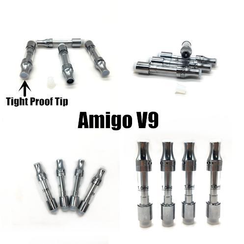 Amigo Freiheit V9 Cartridge 0,5 ml 1,0 ml leeren Vape Wagen für dickes Öl Cartridges Keramik Coil Vaporizer Pen Cartridges Glaswanne Vaporizer