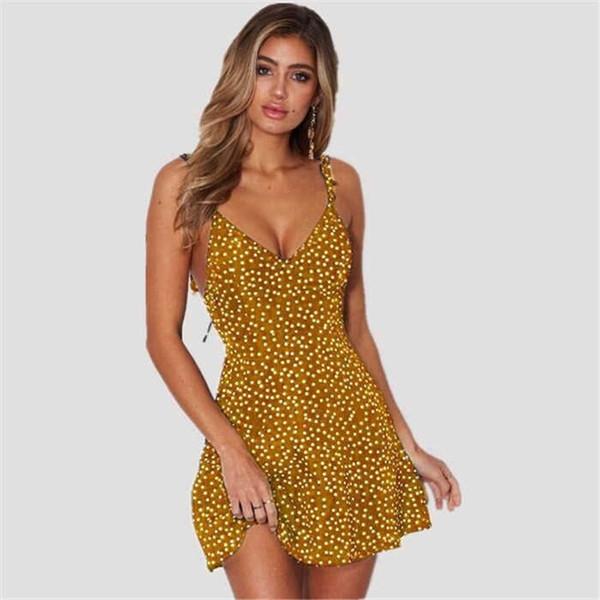 Hot Sell Women Designer Dresses Printed Women Summer Sleeveless Dresses Luxury Womens Casual Polka Dot Short Dress Tops Women Clothes