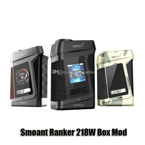 100% Original Smoant Ranker 218W Box Mod VW TC Dual 18650 Battery Mod For 510 Thread Atomizer Genuine