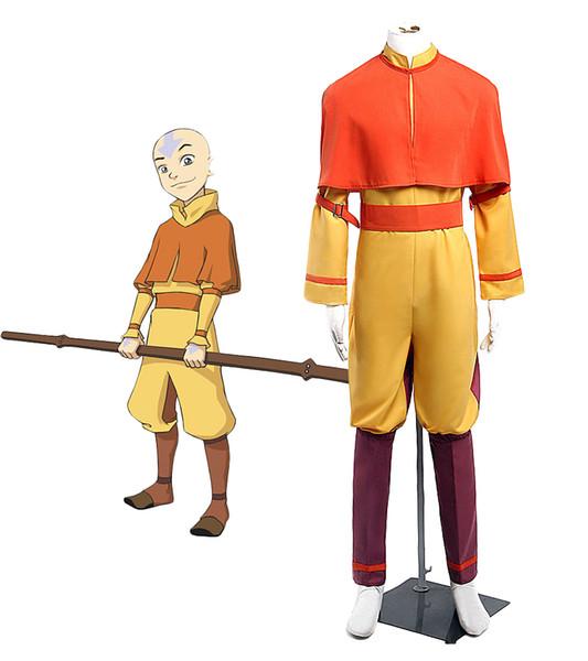 Anime Avatar Cosplay Avatar Aang Cosplay Conjunto Completo Custom Made Qualquer Tamanho Adulto Crianças Traje