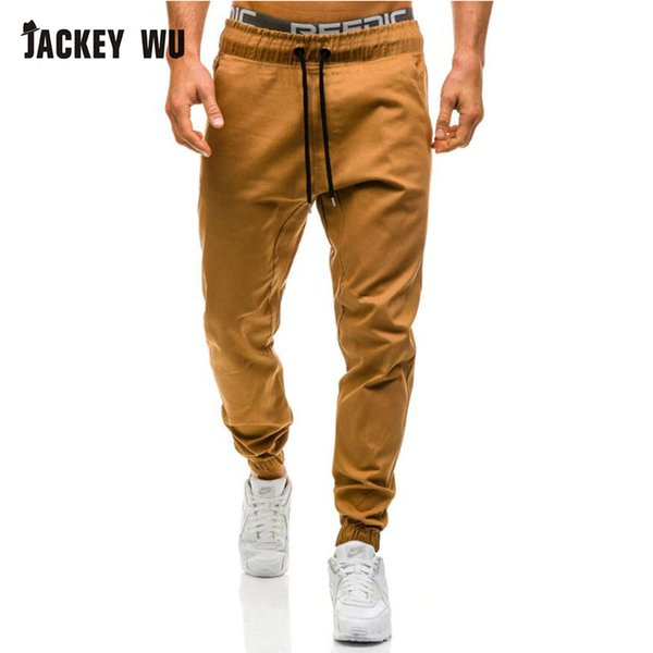 JACKEYWU Marke Hosen Männer 2019 Mode Elastische Taille Jogger Männer Armee Cargo Pant Casual Lange Hose Khaki Streetwear