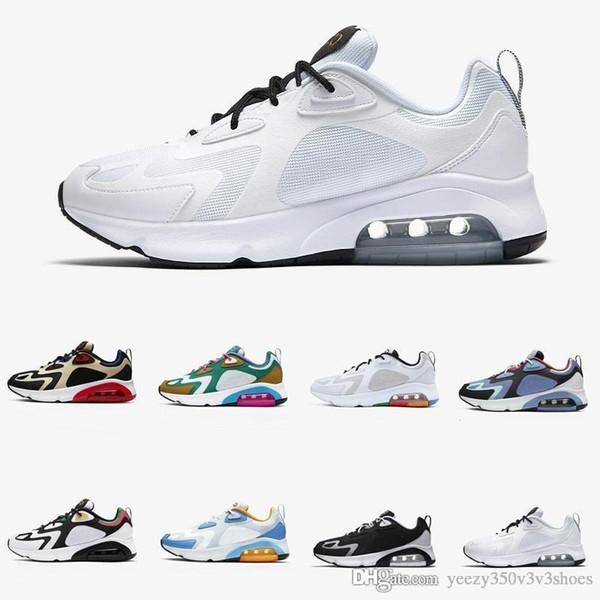 2020 Nouveaux Blanc Noir Nike air max 200 Hommes Chaussures de course 200s Bordeaux Bleu Désert Sable Pulse Mystic vert coussin gris Vastes sport Snea Airs formateurs