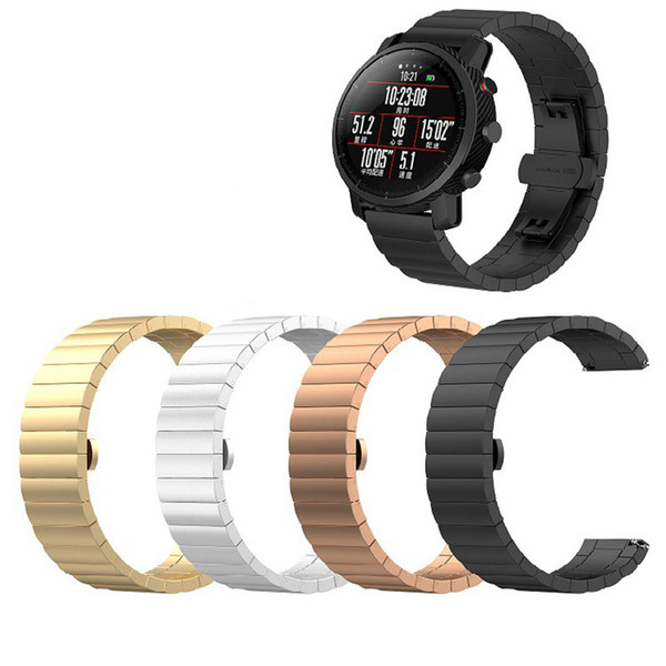 Luxury Stainless Steel bracelet Strap for LG W150 W110 W100 Watchband for ZTE Quartz for Fossil Q MARSHAL gen2 Smart Watch Band Replacement