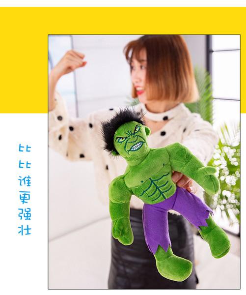 Производитель прямых продаж Моделирование Spiderman Hulk Американский капитан плюшевые игрушки Avenger альянс кукла мужчина