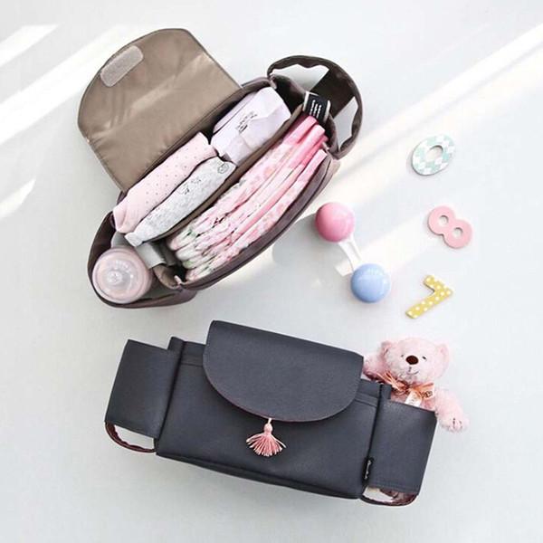 1X Universal Baby Trolley Storage Bag Stroller Cup Carriage PramBuggy Organizer