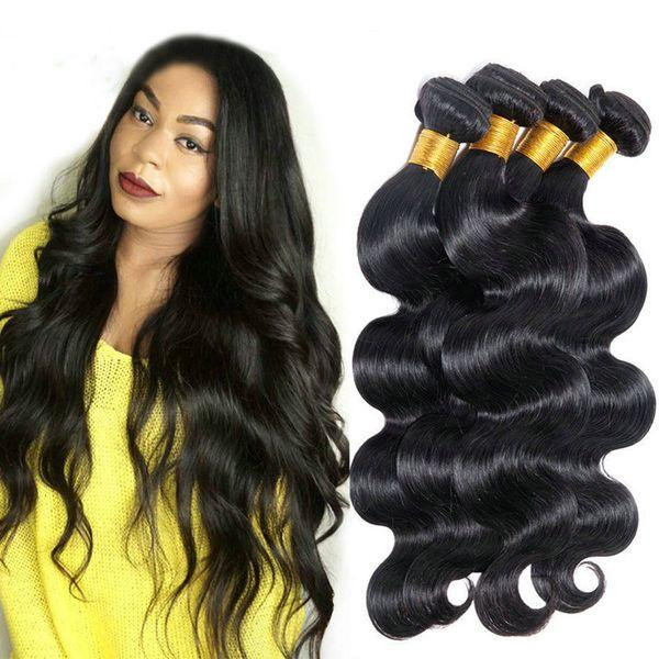 Gerade Bündel des rohen reinen Haares der Körperwelle 3 richteten unverarbeitetes Haargrad 10a die realen natürlichen Menschenhaarverlängerungen aus