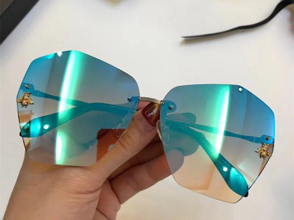 Luxus 0310 sonnenbrille für frauen marke design beliebte mode sommer stil mit den bienen top qualität uv400 verbindungslinse kommen mit
