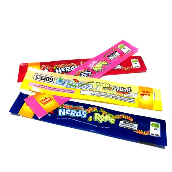 top popular NeRds ROPE Empty Gummy Candy Bag Plastic Edibles retail packaging 4 styles Smell Proof Bags DHL Free 2020