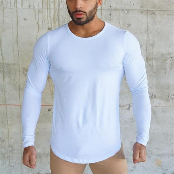 Brand Running Tights Men Compression T-shirt Breathable Man Sportswear Long Sleeve Gym Top Black Fitness Tennis Soccer Shirts