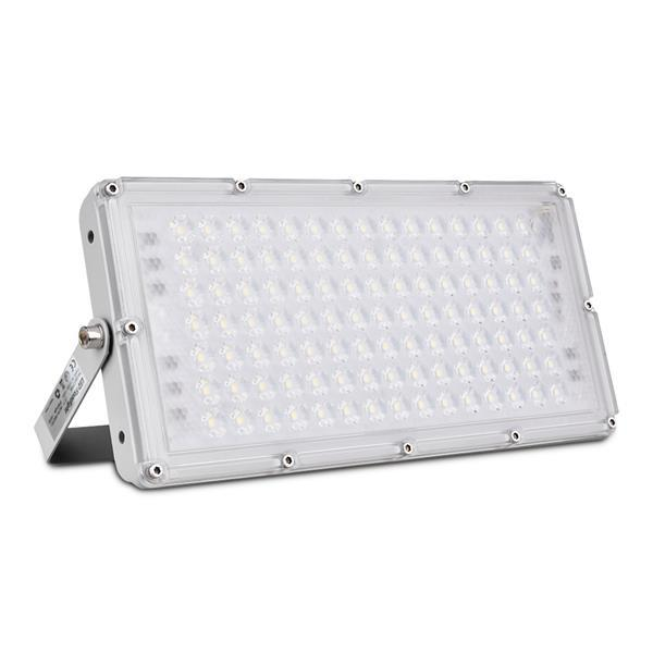 100w Led Flood Light 8000lm 6000k Daylight White 500w Halogen Bulb Equivalent Super Bright Slim Outdoor Work Light Ip65 Waterproof Security Dimmable