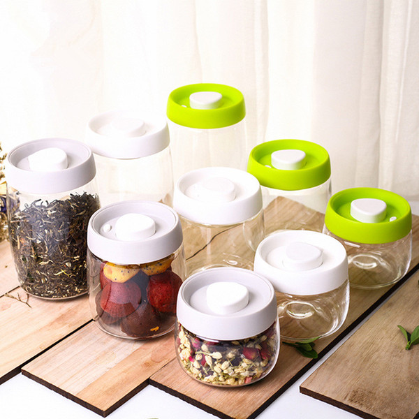 Wholesale Air Tight Food Storage Containers clear glass Food Storage Containers Kitchen Canister Coffee Tea Container Food Storage #211