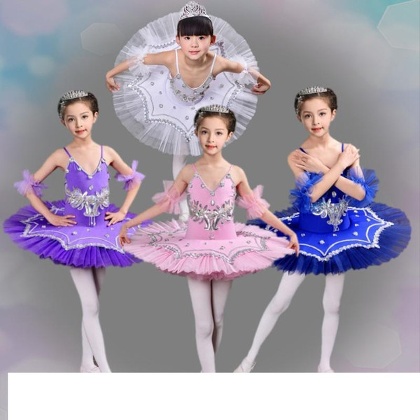 2018 NEW Tutu Ballet Dress Girls' Professional Swan Lake Ballerina Dress Skirt Dancewear for woman 4colors