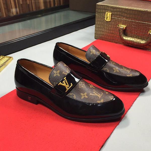 Homens Sapatos Moda Germain Loafer Haussmann Derby 2019 Homens de Moda de Luxo Designer clássico couro design casual Luxo Vestidos Hot Shoes