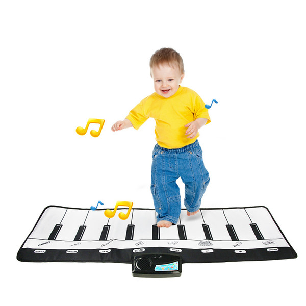top popular Piano Multi-function Electronic Keyboard Musical Instruments Mat for children Kids Musical Toys Play Mat Baby Educational Toys Girls Gifts 2021