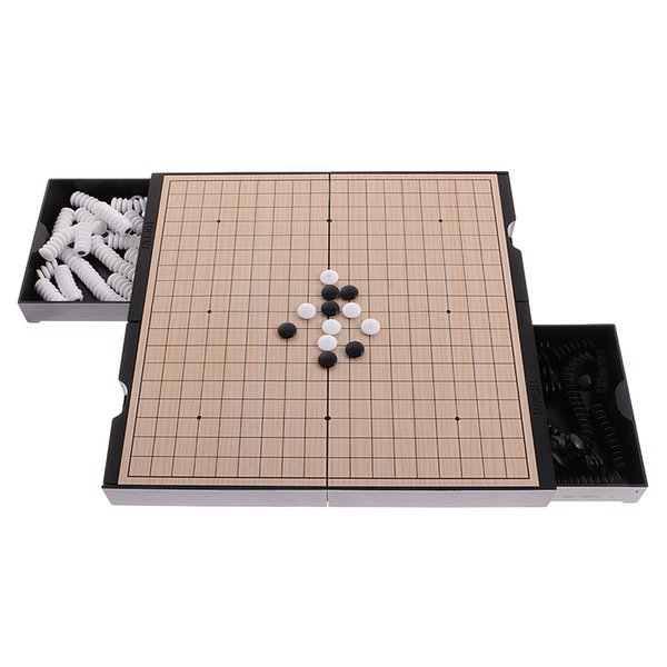best selling 2 In 1 Folding Magnetic Double-faced Board Chinese Chess Set Weiqi Go Game Checkers Toys Gift Collection