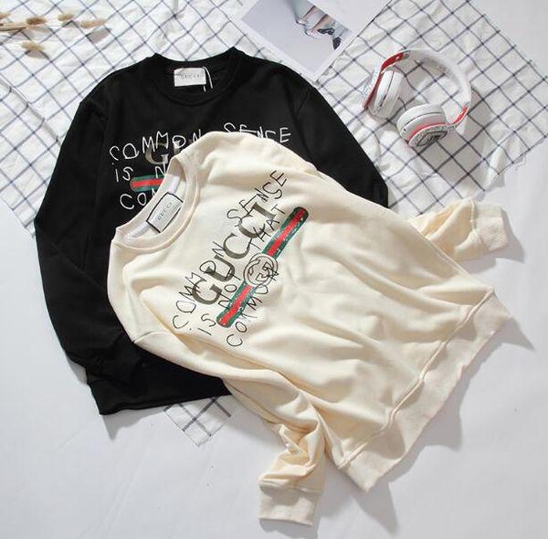 ABCversace ADLhöchste Crewneck Mode Sweatshirts beiläufigen Männer Frauen Pullover Paar Outfit Straße Sweater TOP QUALITY