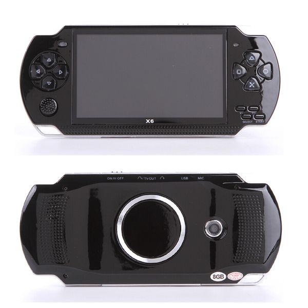 10000 tipos de juegos Consola de juegos portátil Pantalla de 4.3 pulgadas reproductor mp4 Reproductor de juegos MP5 soporte real de 8GB para juegos psp con cámara de video e-book