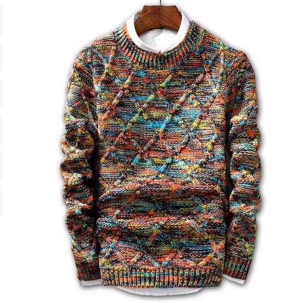 Fashion-eater Men 2018 Markenmode Pullover Pullover Männlich O-Neck Streifen Slim Fit Stricken Herren Pullover Mann Pullover Men