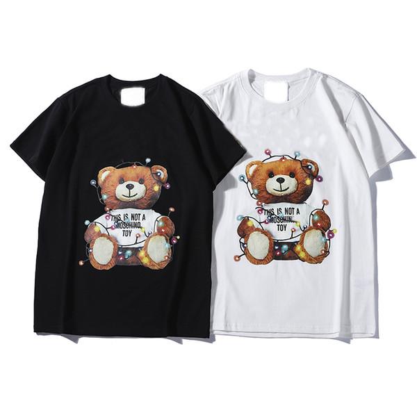 2019 marca de moda camiseta Hip Hop blanco ropa para hombre camisetas casuales para hombres con letras impresas camiseta tamaño S-2XL