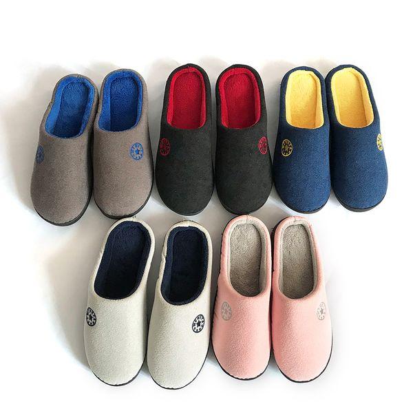 Bomlight Plus Taille Pas Cher Couple Pantoufles Hommes Chaussures Coton Pantoufles Intérieur Chaussures Hommes Unisexe Couple Maison Diapositives Homme