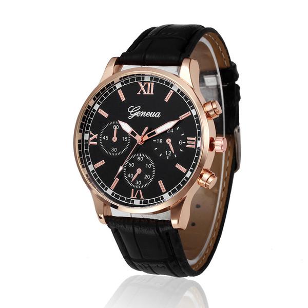 Fashion Quartz Watch Women Retro Design Leather Band Analog Alloy Quartz Wrist Watch Casual Women Men Watches Saat Erkekler #30